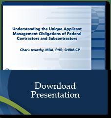Applicant Management for Federal Contractors