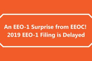 An EEO-1 Surprise from EEOC! 2019 EEO-1 Filing is Delayed