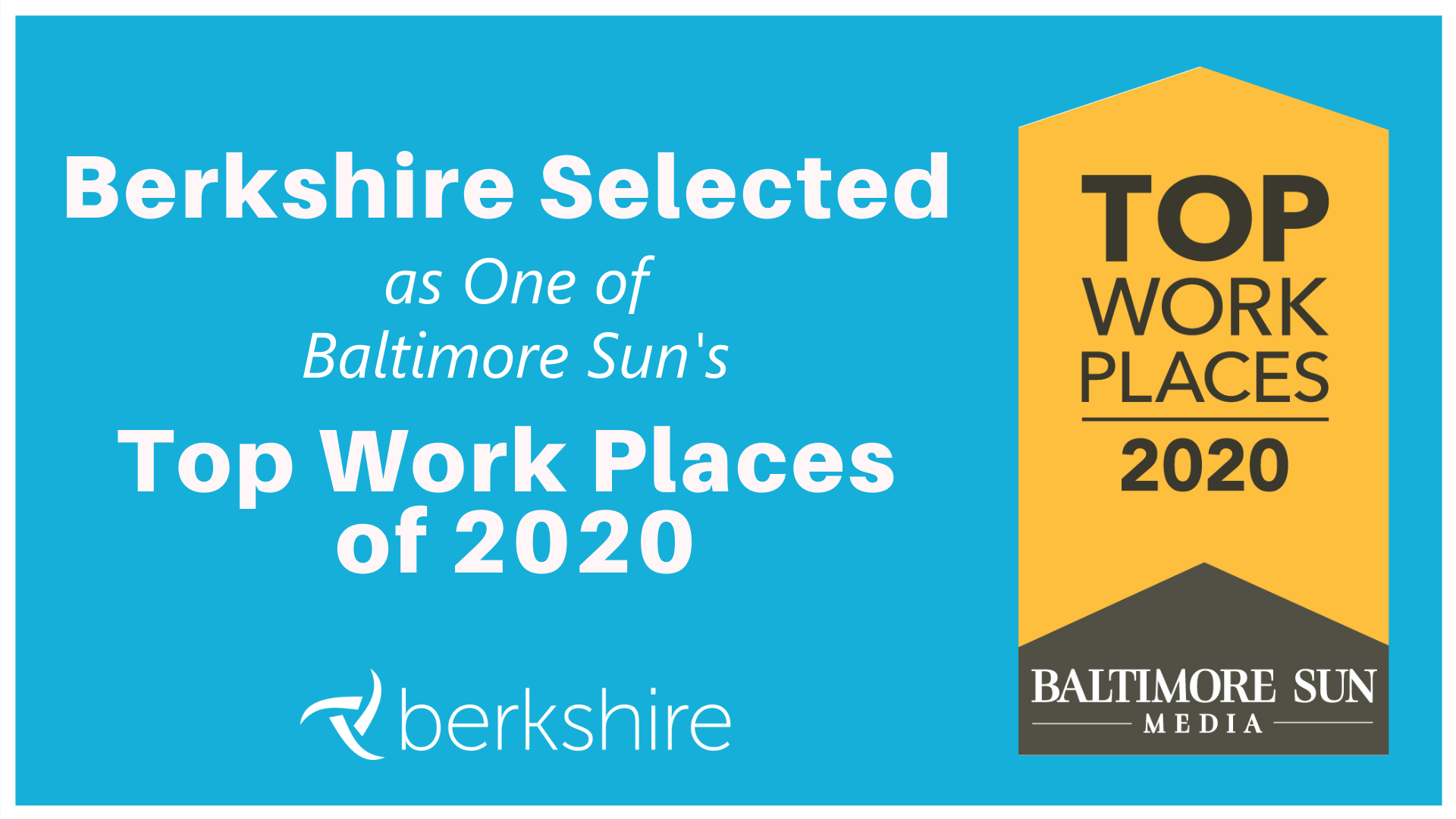 Berkshire Selected as One of Baltimore Suns Top Work Place of 2020
