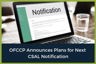 OFCCP CSAL Notification