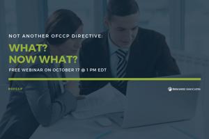 New OFCCP Directives Webinar Event