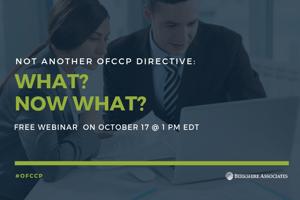 New OFCCP Directives Webinar
