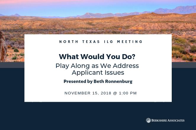 North TX ILG Meeting