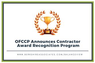 OFCCP  Contractor Award Recognition Program blog
