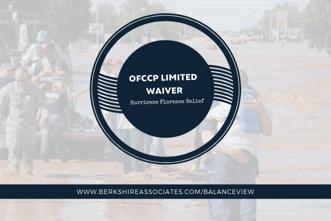 OFCCP Hurricane Florence Relief blog