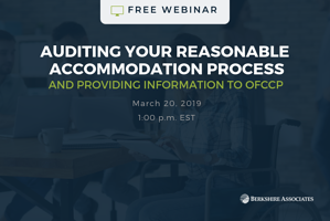 Auditing Your Reasonable Accommodation Process