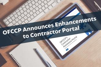 OFCCP Announces Enhancements to Contractor Portal-1