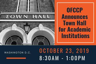 OFCCP Announces Town Hall (1)