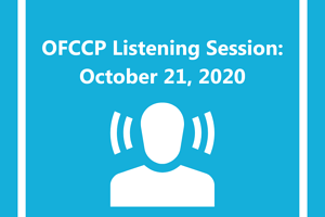 OFCCP Listening Session