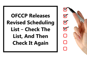 OFCCP Releases Revises Scheduling List