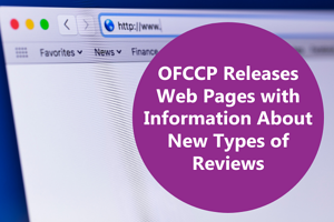 OFCCP Releases Web Pages with Info About New Types of Reviews