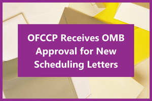 OFCCP Scheduling Letters