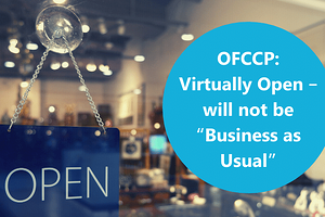 OFCCP Virtually Open - will not be Business as Usual