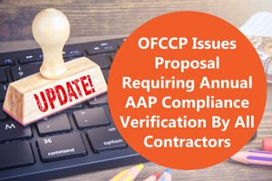 OFCCP issues proposal requiring AAP...