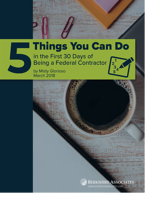 5 Things You Can Do in the First 30 Days