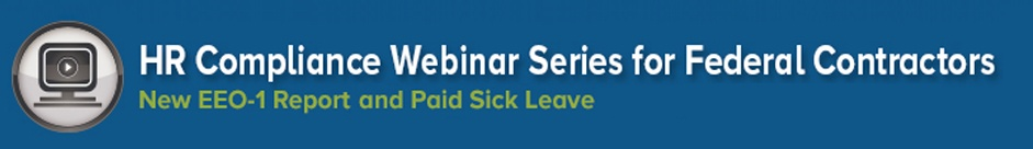 HR Compliance Webinar Series for federal contractors