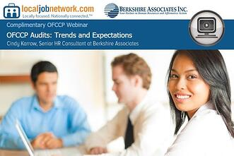 OFCCP Audit Trends National Webinar