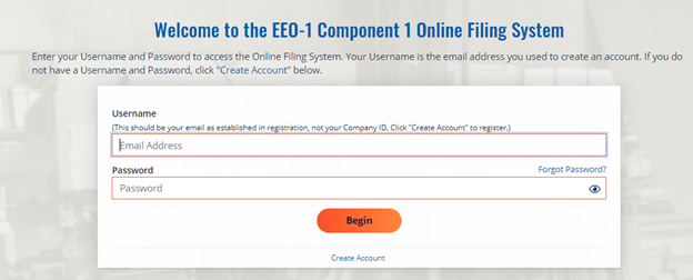 Welcome to the EEO-1 Component 1 Online System