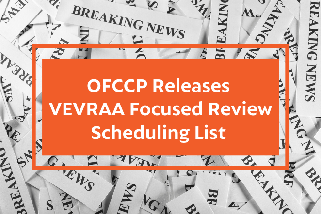 OFCCP releases VEVRAA Focused Review Scheduling List