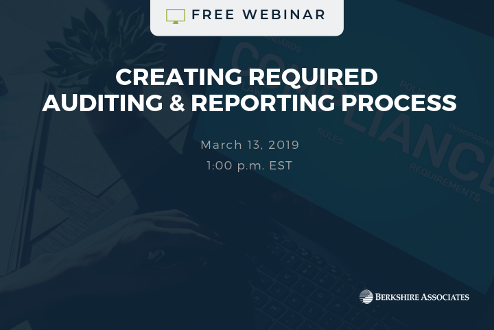 Join Us for a Free Webinar on Creating Required Auditing & Reporting Process