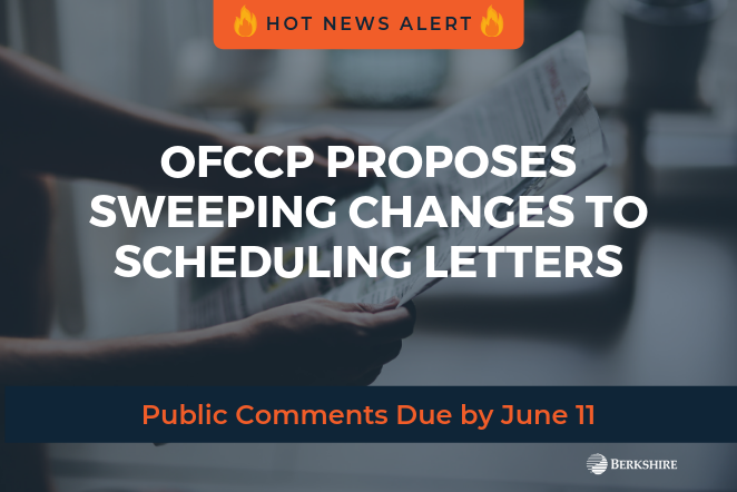 OFCCP Proposes Sweeping Changes to Scheduling Letters