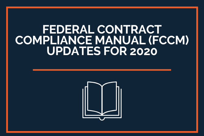 Federal Contract Compliance Manual Updates for 2020