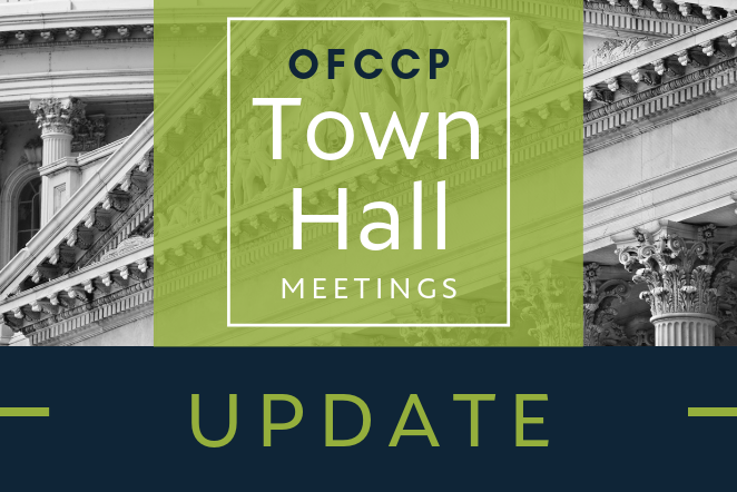 OFCCP Hosts Town Halls for Financial and Legal Industries – Announces Upcoming Information Collection Proposals Among Other Compliance Concerns