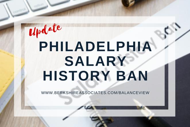Update: Philadelphia Salary History Ban