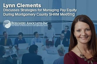 Lynn Clements Shares Equal Pay Practices During Montgomery Co. SHRM Meeting