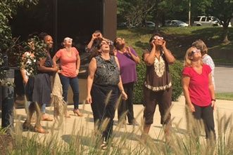 The Eclipse Cast a Light Over Berkshire Associates in Columbia, MD