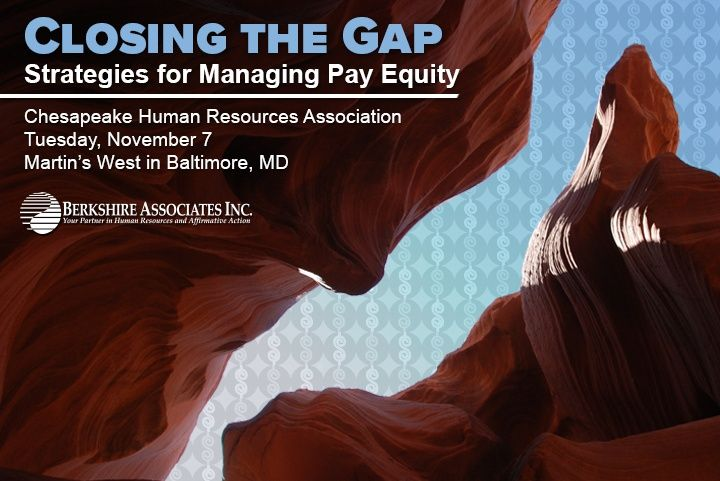Pay Equity Presentation at Chesapeake Human Resources Association Fall Conference
