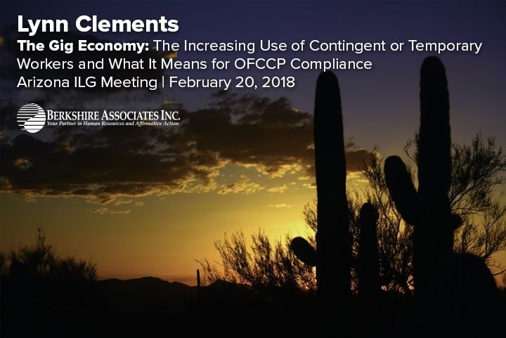 """Lynn Clements Looks at OFCCP Compliance in the """"Gig"""" Economy During Arizona ILG Meeting"""