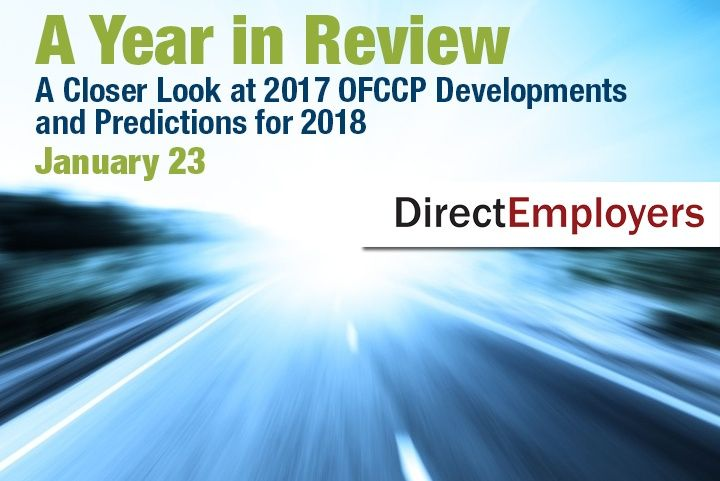 Beth Ronnenburg Reviews OFCCP Developments from 2017 During Free Webinar with DirectEmployers