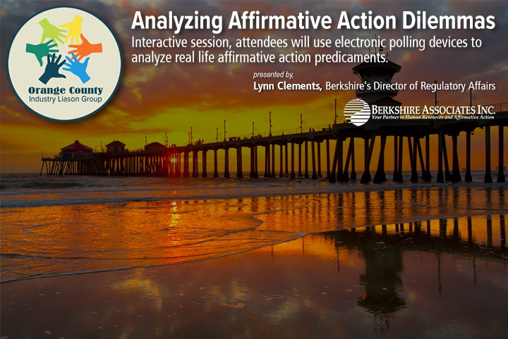 Lynn Clements Analyzes Affirmative Action Dilemmas at Southern California Pacific Region ILGs Compliance Summit