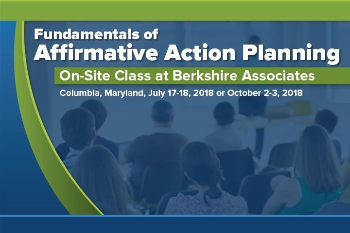 Fundamentals of Affirmative Action Planning Training Class